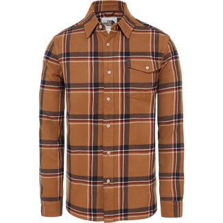 The North Face Arroyo Langarmhemd Herren cedar brown gully plaid