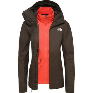 The North Face Tanken Triclimate Doppeljacke Damen newtaupegrn-radiantorange