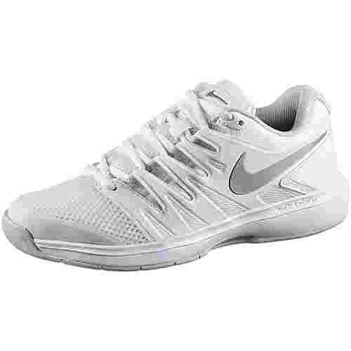 Nike AIR ZOOM PRESTIGE CPT Tennisschuhe Damen white-metallic silver-pure platinum