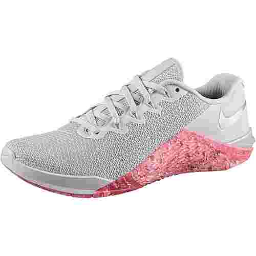 Nike Metcon 5 Fitnessschuhe Damen pure platinum-oil grey