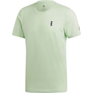 adidas NY GRAPHIC T-Shirt Herren glow green