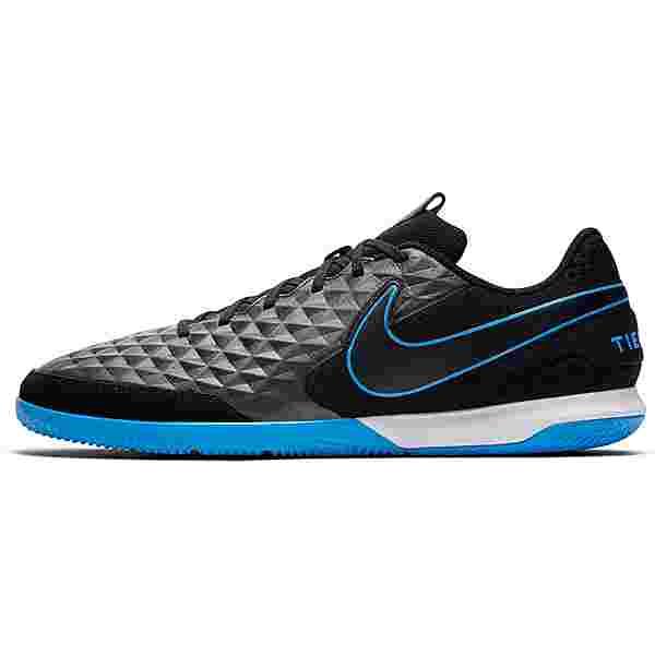 Nike TIEMPO LEGEND 8 ACADEMY IC Fußballschuhe black-black-blue hero-blue hero