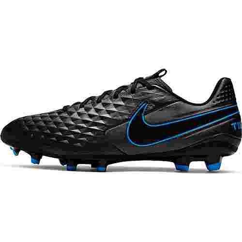 Nike TIEMPO LEGEND 8 ACADEMY FG/MG Fußballschuhe black-black-blue hero