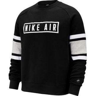 Nike NSW Air Sweatshirt Herren black-white-grey heather