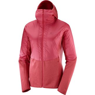 Salomon OUTLINE Fleecejacke Damen garnet rose
