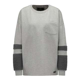 DreiMaster Sweatshirt Damen grau melange