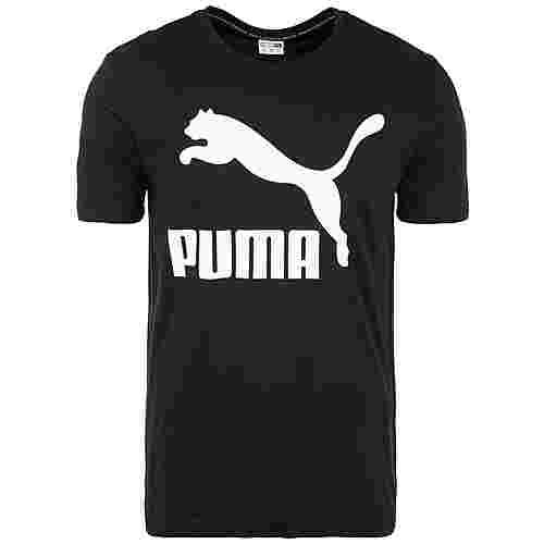 PUMA Classics Logo T-Shirt Herren schwarz / weiß