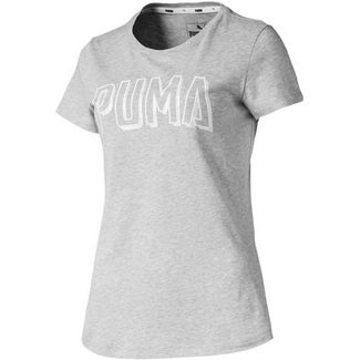 PUMA T-Shirt Damen light gray heather