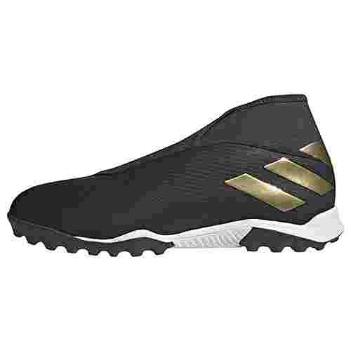 adidas Nemeziz 19.3 TF Fußballschuh Fußballschuhe Herren Core Black / Gold Met. / Utility Black