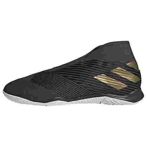 adidas Nemeziz 19.3 IN Fußballschuh Fußballschuhe Herren Core Black / Gold Met. / Utility Black