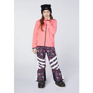 Chiemsee Skihose Skihose Kinder Black/Pink-AOP