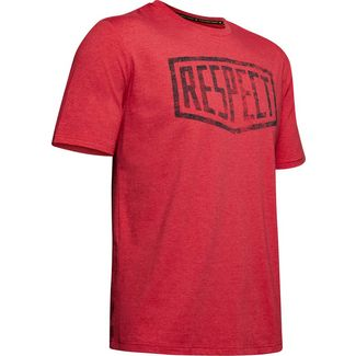 Under Armour Project Rock Bull Graphic Respect Funktionsshirt Herren red