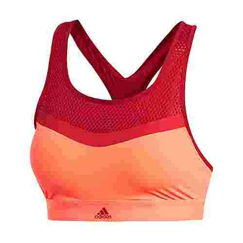 adidas Don't Rest Bikinioberteil Bikini Oberteil Damen Hi-Res Coral / Active Maroon / Active Gold