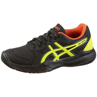 ASICS GEL-GAME 7 GS Tennisschuhe Kinder black-sour yuzu