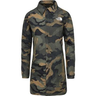 The North Face Telegraphic Coaches Parka Damen burnt olive green waxed camo print
