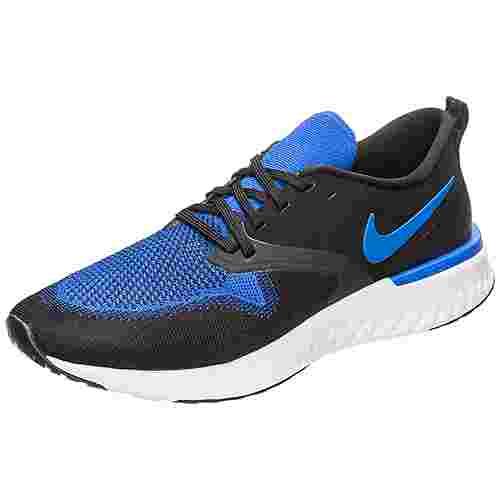 Nike Odyssey React Flyknit 2 Laufschuhe Herren schwarz / blau