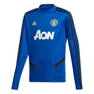 adidas Manchester United Trainingsoberteil Sweatshirt Kinder Collegiate Royal / Black