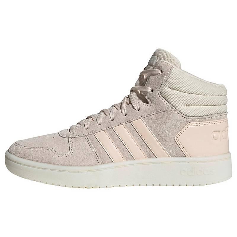 adidas Hoops 2.0 Mid Schuh Winterschuhe Damen Linen Linen Cloud White im Online Shop von SportScheck kaufen  billig