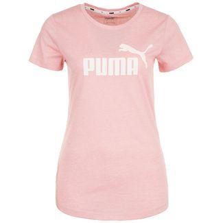PUMA Essential Logo Heather T-Shirt Damen altrosa / weiß