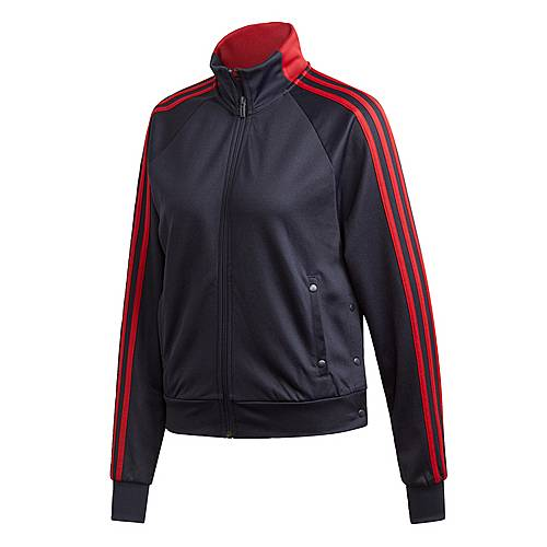 adidas ID 3 Streifen Snap Trainingsjacke Sweatjacke Damen Legend Ink im Online Shop von SportScheck kaufen