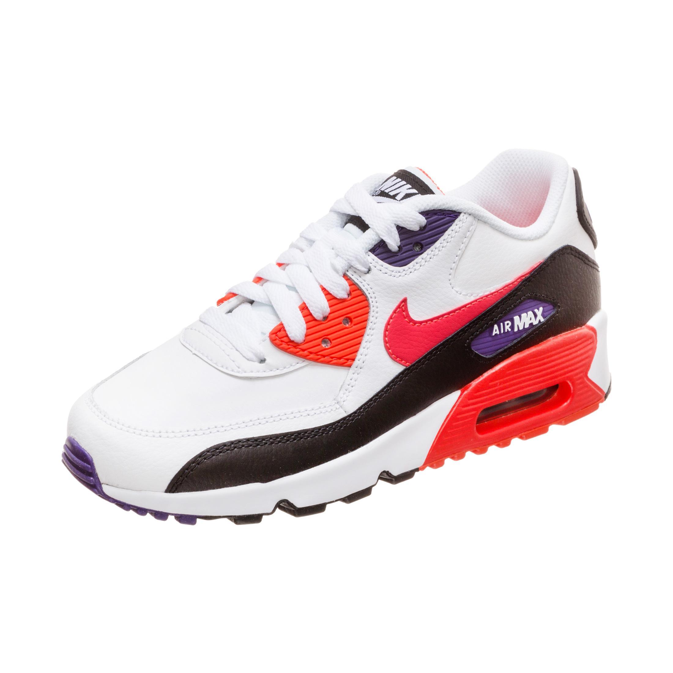Nike Air Max 90 Leather Sneaker Jungen weiß rot im Online Shop von SportScheck kaufen