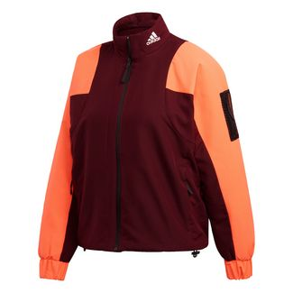adidas Back-to-Sport Lined Insulation Jacke Daunenjacke Damen Maroon / Hi-Res Coral