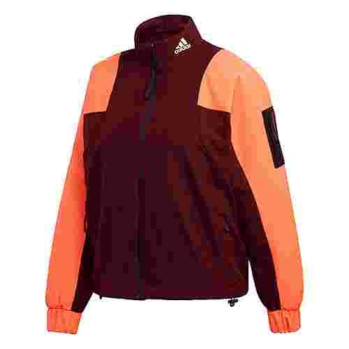 adidas Back-to-Sport Lined Insulation Jacke Daunenjacke Damen Maroon / Hi-Res Coral