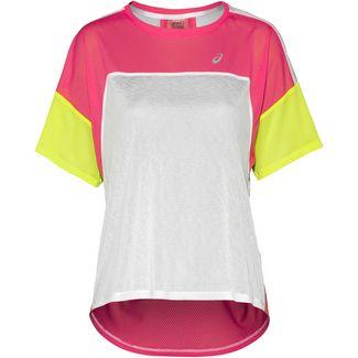 ASICS Laufshirt Damen brilliant white-laser pink
