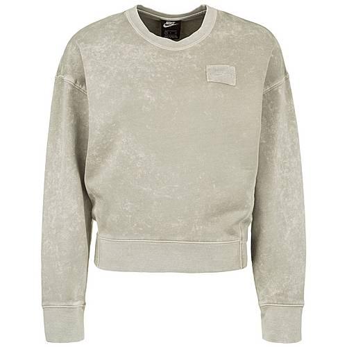 Nike Sportswear Crew FT Rebel Sweatshirt Damen hellgrün im Online Shop von SportScheck kaufen