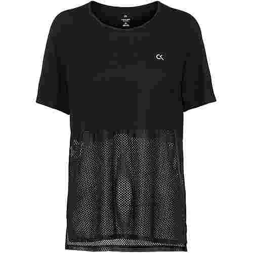 Calvin Klein SIGNATURE MESH Funktionsshirt Damen ck black