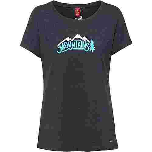OCK Printshirt Damen navy