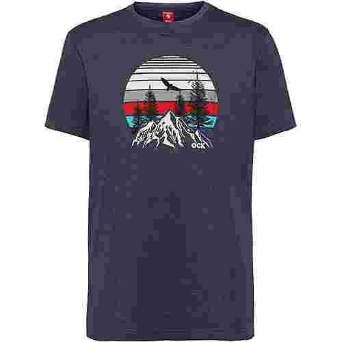 OCK Printshirt Herren navy