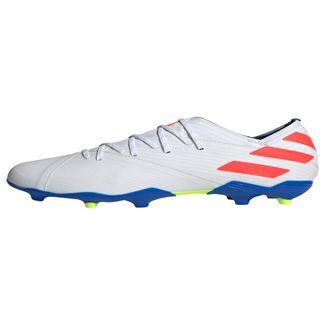adidas Nemeziz Messi 19.1 FG Fußballschuh Fußballschuhe Kinder Cloud White / Solar Red / Football Blue