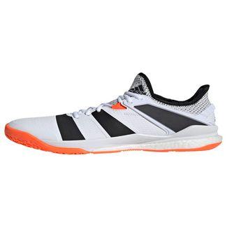 adidas Stabil X Schuh Sneaker Herren Cloud White / Core Black / Solar Orange