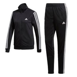 adidas Team Sport Trainingsanzug Trainingsanzug Damen Black / Black / White