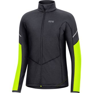 GORE® WEAR M Thermo Laufjacke Damen black-neon yellow