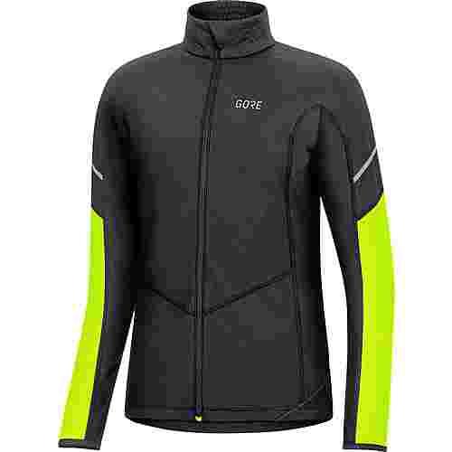 GORE® WEAR Thermo Laufshirt Damen black-neon yellow