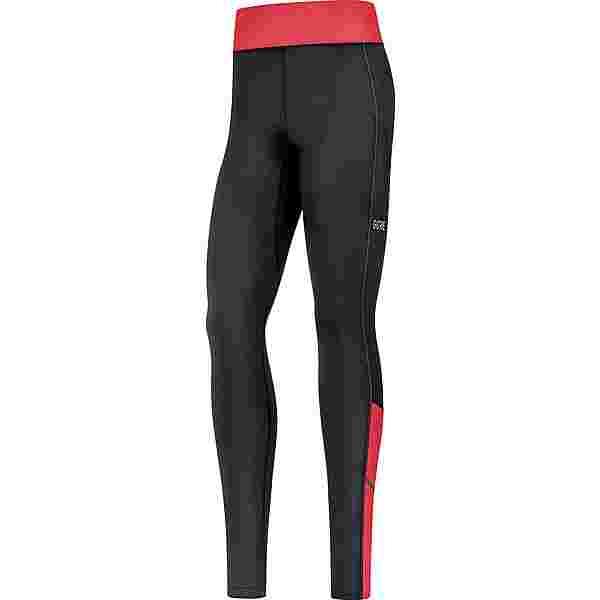 GORE® WEAR R3 Thermo Lauftights Damen black-hibiscus pink