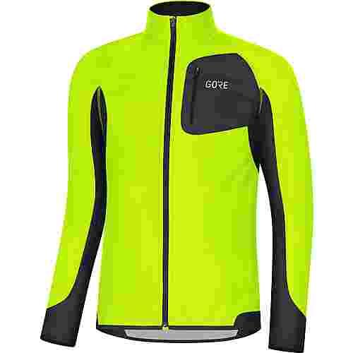 GORE® WEAR R3 Partial GORE® WINDSTOPPER® Laufshirt Herren neon yellow-black