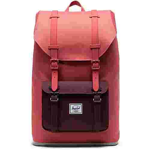 Herschel Rucksack Little America Mid-Volume Daypack Damen mineral red-plum