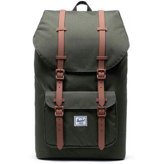 Herschel Rucksack Little America Daypack dark olive-saddle brown