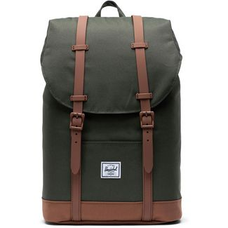 Herschel Rucksack Retreat Mid-Volume Daypack dark olive-saddle brown