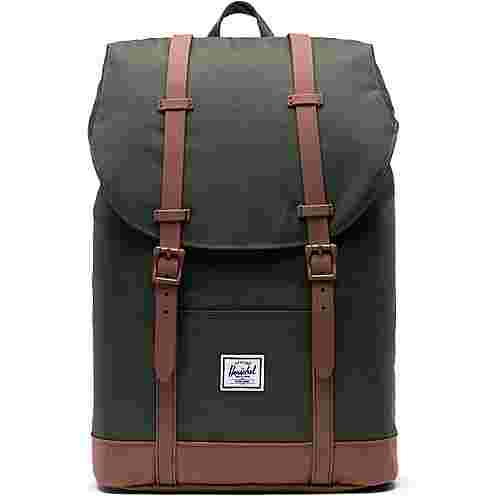 Herschel Rucksack Retreat Mid-Volume Daypack dark olive-saddle brown