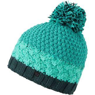 Ziener Issogi Hat Bommelmütze Damen mermaid green
