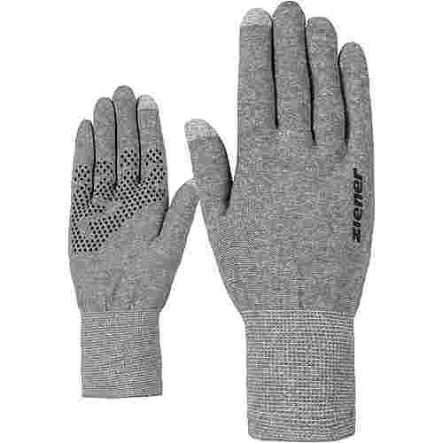 Ziener Ibico Touch Glove Multisport Fingerhandschuhe grey melange