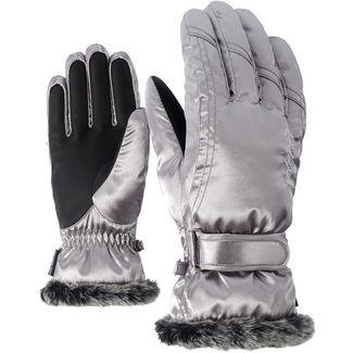 Ziener Kim Lady Glove Skihandschuhe Damen metallic silver