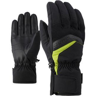Ziener Gabino Glove Ski Alpine Skihandschuhe Herren black-lime green