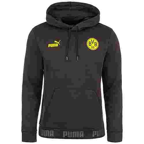 PUMA Borussia Dortmund FtblCulture Hoodie Herren schwarz