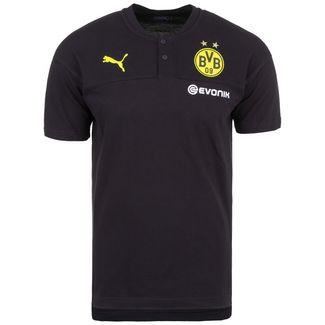 PUMA Borussia Dortmund Casuals Poloshirt Herren schwarz / gelb