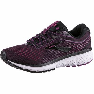 Brooks Ghost 12 Laufschuhe Damen black-hollyhock-pink